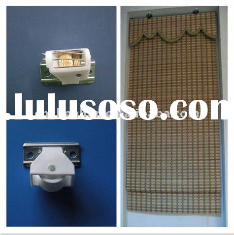 White color cord lock and cord pulley to bamboo blinds,woven wood blinds components,roman shade acce