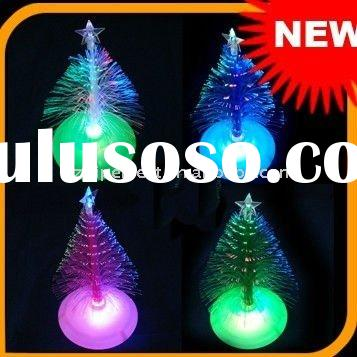 Wholesale Free Shipping New USB Fiber Optic Christmas tree with colorful light for christmas ornamen