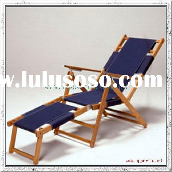 Wooden lounge beach chair,wood folding beach chair,garden chair Hot