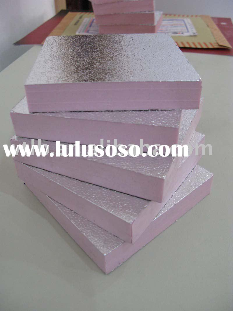 XPS extruded polystyrene foam insulation board /flame resistant board coating alu foil