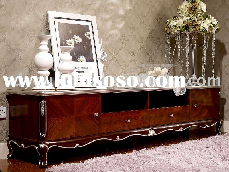 Y07 long floor cabinnet(Tv stand) neo classic home furniture living room solid wood
