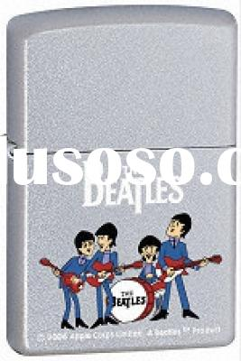 ZIPPO Lighter - 24061 The Beatles Playing, Satin Chrome