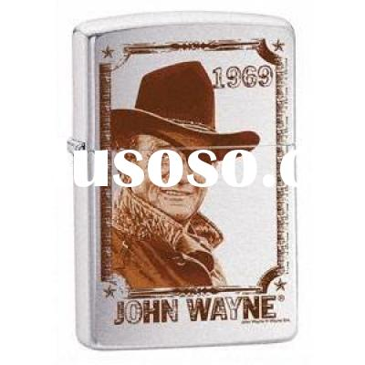 ZIPPO Lighter - 24075 John Wayne 1969, Brushed Chrome