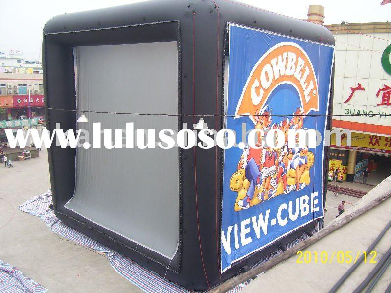 air cube/inflatable cube for movie screen/outdoor screen