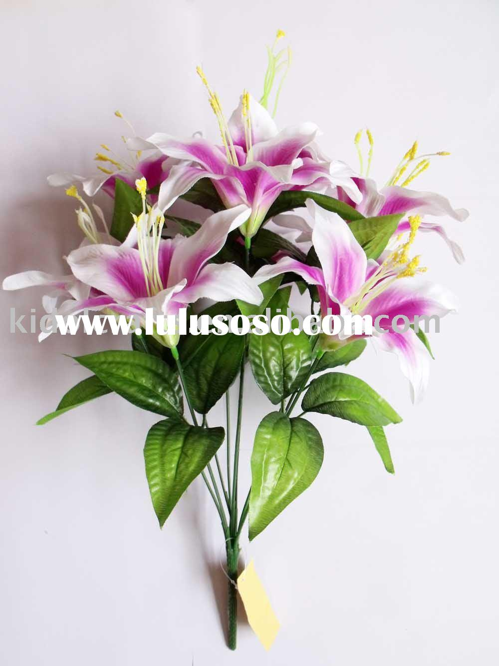 artificial lily flower,home decorations, wedding decorations,silk bouquet