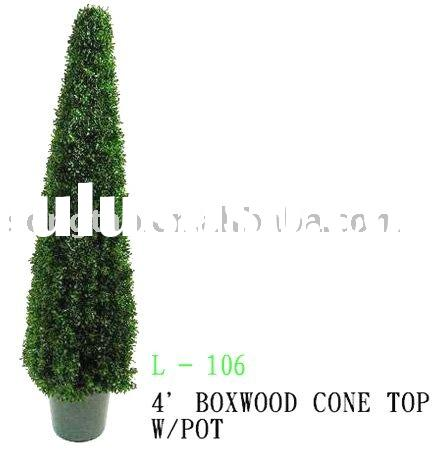 artificial tree,2-4 FOOT BOXWOOD CONE TOP TOPIARY