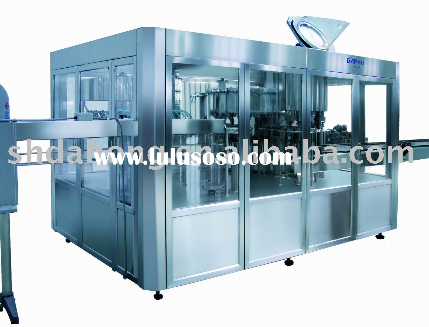 automatic spraying filling and capping machine for soda water