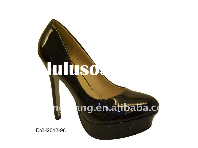 black patent ladies high heel shoes