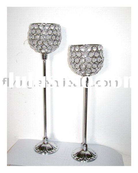 bling tealight lamps, bead candle holder, acrylic bead candle holder,
