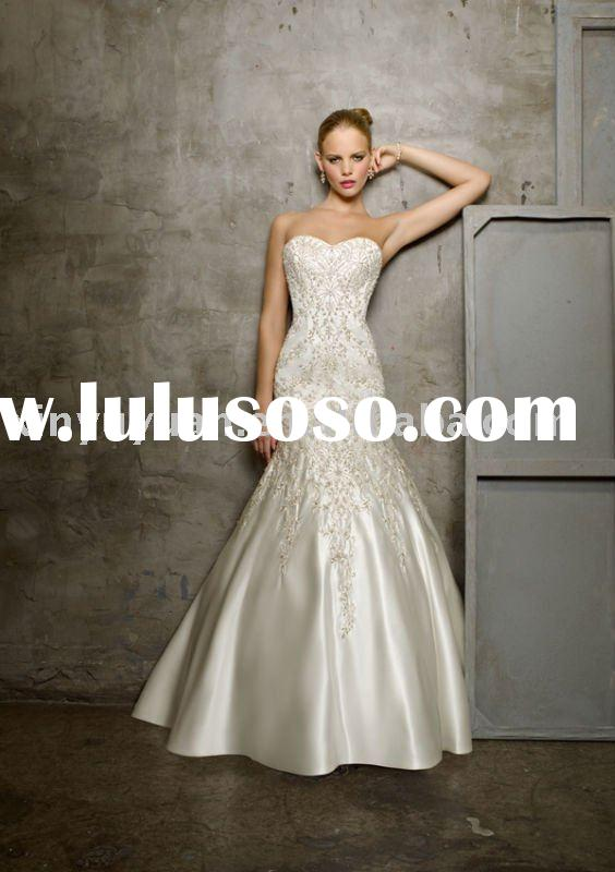 boutique embroidery mermaid style wedding dresses MLW-012