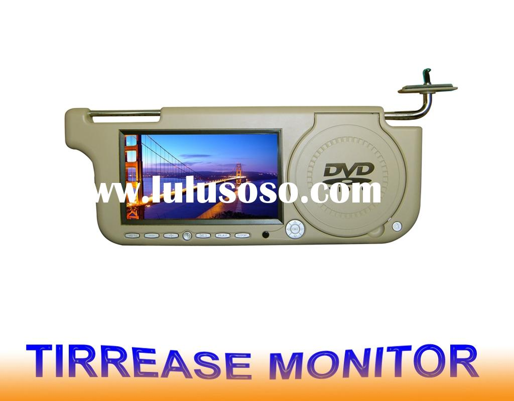car LCD monitor,sunvisor DVD player built with SD and USB GT-D117