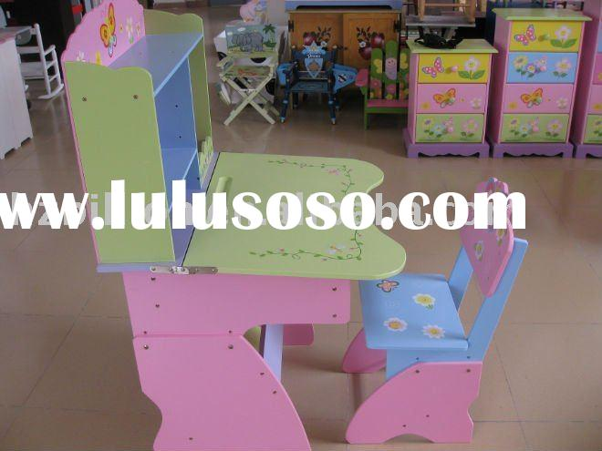 children study table kids hand painted wooden table and chair
