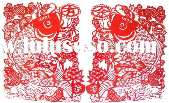 chinese new year paper-cut for home decoration (HPC-11031)