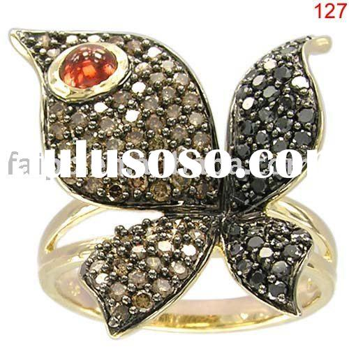 chocolate diamond ring (fashion gold jewelry)