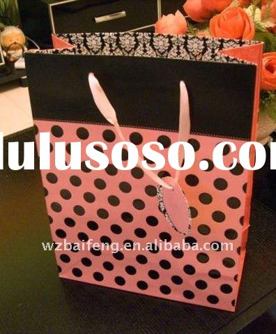 christmas paper bag with different handle types