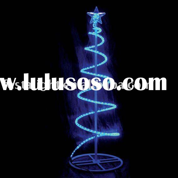 Spiral Rope Light Christmas Tree