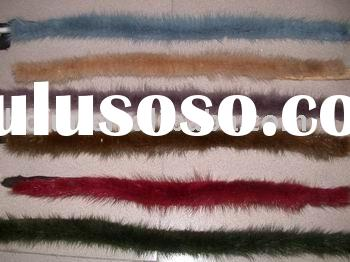 colorful mink Strips/mink fur trims/fashion fur accessories/garment accessories