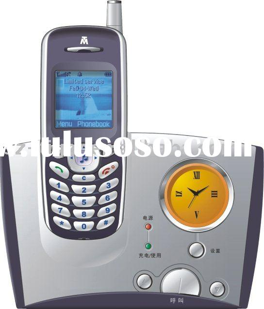corded caller id telephone with blue light and voice telking