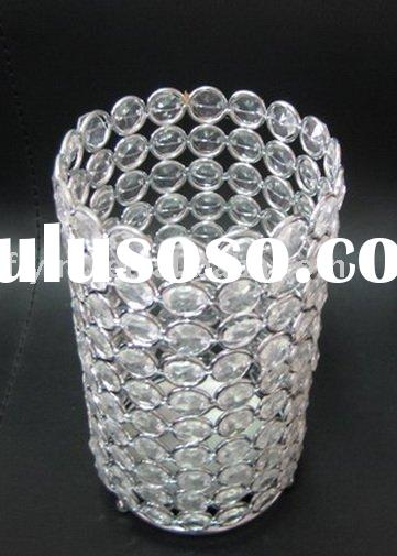 crystal bling candle holder, bead candle holder, acrylic bead candle holder,