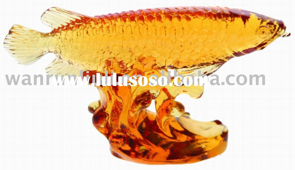 crystal goldren fish for promotion gift-- arowana dragon fish --BS115