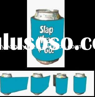 custom neoprene can beer cooler with slap-on