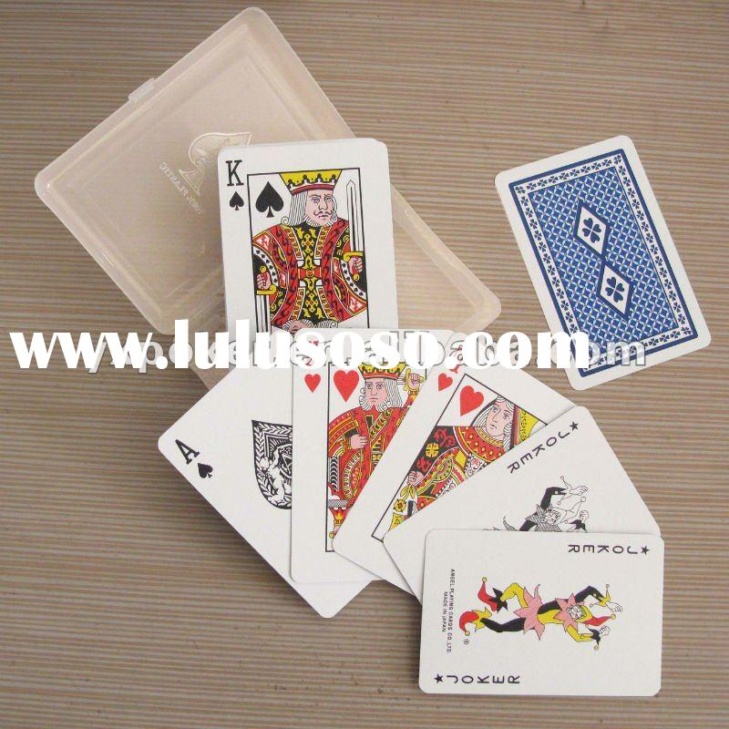customized plastic playing cards with pvc box