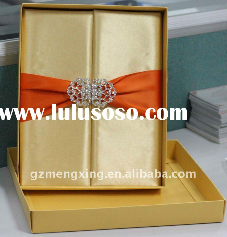 customized unique royal folio wedding invitation card --MX-T252