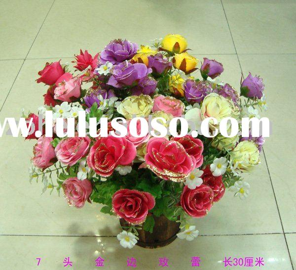 decorative artificial flower and plant