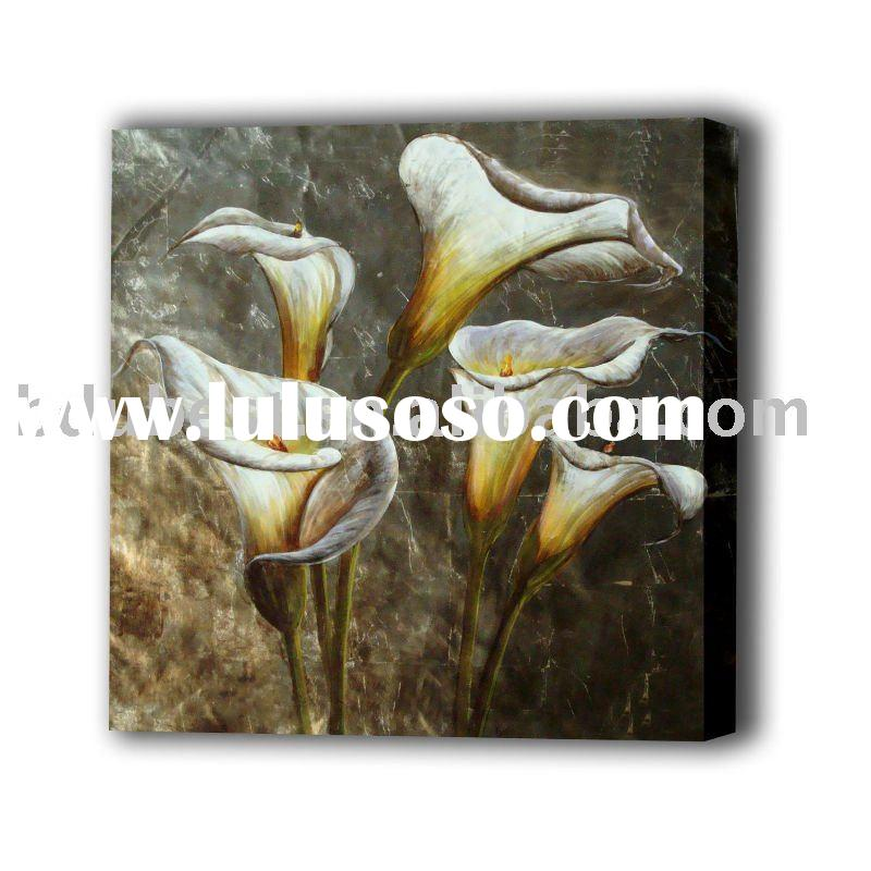 decorative floral oil painting