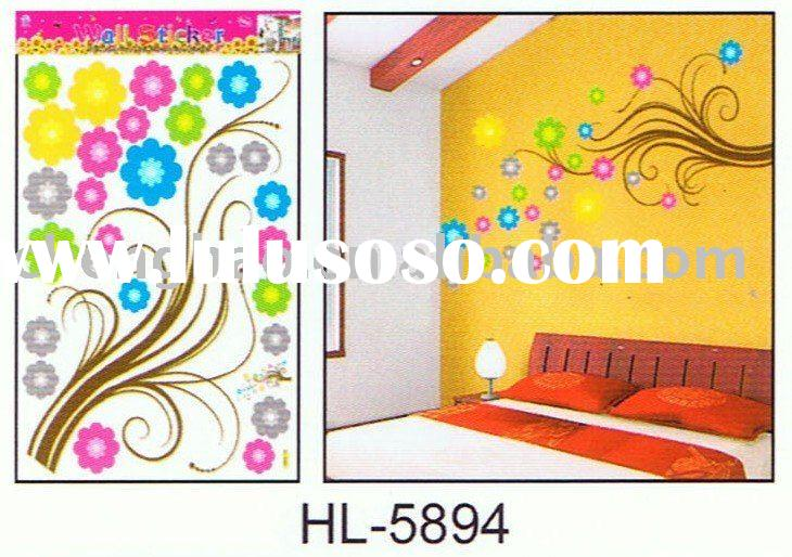 decorative vinyl wall room art sticker flower