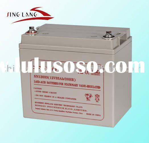 deep cycle battery 12v33ah, solar battery, gel battery