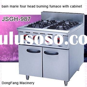 double burner gas stove electric range with cabinet GH-987 ,kitchen equipment