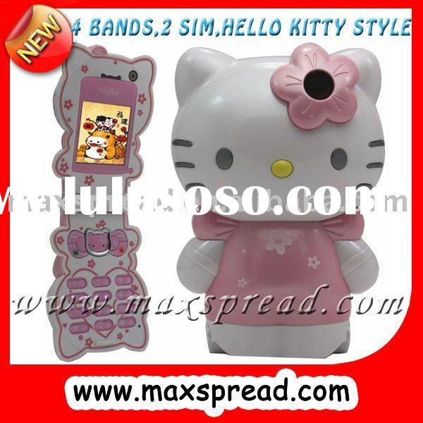 dual sim hello kitty phone for girl C168