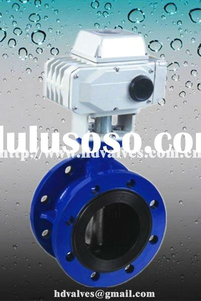 electric actuator double flange butterfly valve