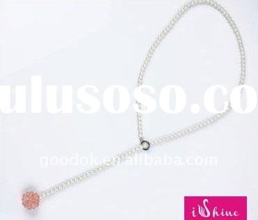 fashion beaded jewelry pearls for necklace with crystal