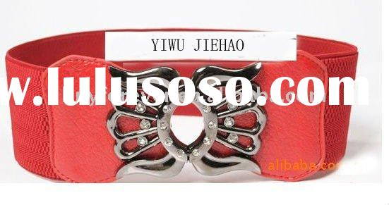 fashion belt for women,multicoulor belt, elastic band belt,alloy buckle imitation leather belt