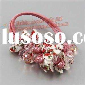 fashion elastic goody beaded hair accessories clamp
