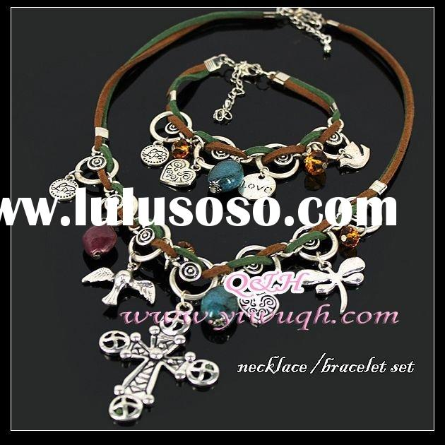 fashion jewellery sets,necklace and earrings