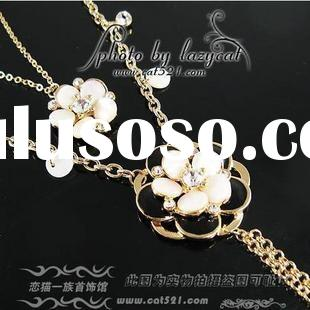 fashion necklace, Korean jewelry, flower styles, noble jewelry