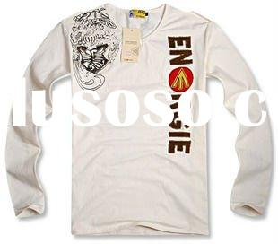 fashion o-neck print long sleeve t-shirt for men