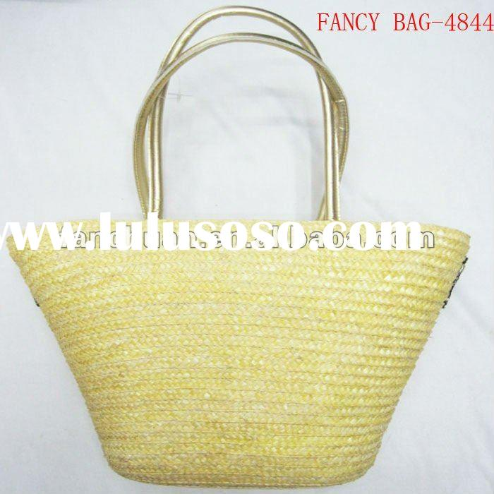 fashion wheat straw beach bag