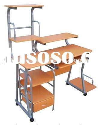 fashionable steel wood computer desk of office furniture