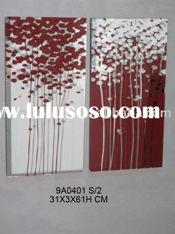 flower glass wall decoration