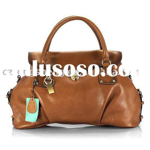 free customer's logo-wholesale and retail genuine leather handbag,fashion lady's han