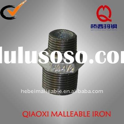 galvanized cast iron pipe fittings nipple 280 malleable iron pipe fitting