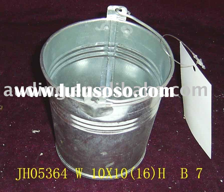 galvanized metal bucket with long handle