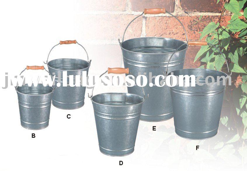 galvanized metal pail