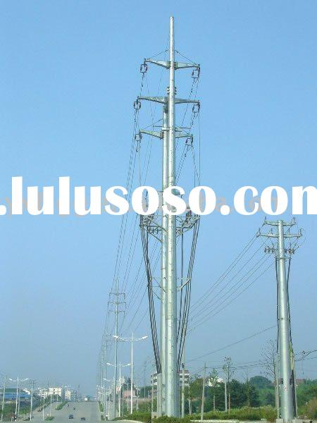 galvanized steel electrical pole