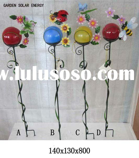 glass ball garden stake