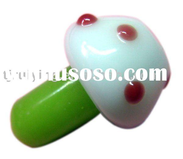 glass beads mushroom design fit for fashion jewelry RY003149